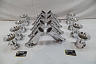 Aluminum Intake Manifold / Throttle Bodies / Horns AFTER Chrome-Like Metal Polishing and Buffing Services / Restoration Services