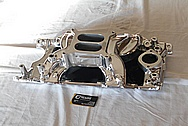 Aluminum, V8 Engine Intake Manifold AFTER Chrome-Like Metal Polishing and Buffing Services / Restoration Services