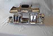 Aluminum, Rough Cast V8 Engine Intake Manifold AFTER Chrome-Like Metal Polishing and Buffing Services / Restoration Services