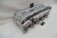 Dodge Viper Aluminum Rough Cast V10 Engine Intake Manifold AFTER Chrome-Like Metal Polishing and Buffing Services / Restoration Services