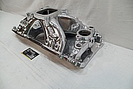 Chevrolet Aluminum V8 Engine Intake Manifold AFTER Chrome-Like Metal Polishing and Buffing Services / Restoration Services