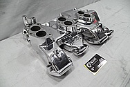 Edelbrock Aluminum V8 Engine Intake Manifold AFTER Chrome-Like Metal Polishing and Buffing Services / Restoration Services