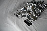 Edelbrock Victor Jr Aluminum V8 Engine Intake Manifold AFTER Chrome-Like Metal Polishing and Buffing Services / Restoration Services