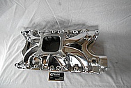 Edelbrock Victor Jr Aluminum V8 Engine Intake Manifold AFTER Chrome-Like Metal Polishing and Buffing Services / Restoration Services