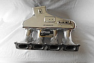4 Cylinder Aluminum Intake Manifold AFTER Chrome-Like Metal Polishing and Buffing Services / Restoration Services
