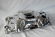 6 Cylinder Aluminum Intake Manifold AFTER Chrome-Like Metal Polishing and Buffing Services / Restoration Services