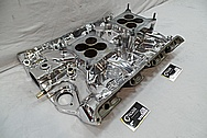 Aluminum V8 Intake Manifold AFTER Chrome-Like Metal Polishing and Buffing Services / Restoration Services