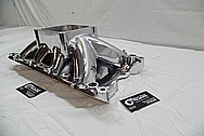 Edelbrock Aluminum Intake Manifold AFTER Chrome-Like Metal Polishing and Buffing Services / Restoration Services