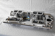 Big Block Chevy Ram Jet Lower Intake Manifold AFTER Chrome-Like Metal Polishing and Buffing Services / Restoration Services