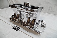 Aluminum High Rise V8 Intake Manifold AFTER Chrome-Like Metal Polishing and Buffing Services / Restoration Services