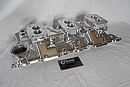 Small Block Chevy Aluminum Intake Manifold AFTER Chrome-Like Metal Polishing and Buffing Services / Restoration Services