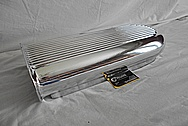 B&M Aluminum Blower Intake Manifold Hat / Top Piece AFTER Chrome-Like Metal Polishing - Aluminum Polishing