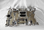 V8 Engine Aluminum Intake Manifold AFTER Chrome-Like Metal Polishing - Aluminum Polishing