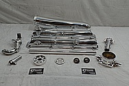Toyota Supra 2JZ-GTE Aluminum Upper Intake Manifold Setup AFTER Chrome-Like Metal Polishing - Aluminum Polishing
