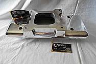 Weiand Aluminum Upper Intake Manifold AFTER Chrome-Like Metal Polishing - Aluminum Polishing