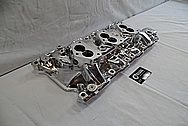 Edelbrock Aluminum Intake Manifold AFTER Chrome-Like Metal Polishing and Buffing Services - Aluminum Polishing