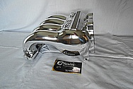 Mazda RX7 13B RE Aluminum Intake Manifold AFTER Chrome-Like Metal Polishing and Buffing Services - Aluminum Polishing