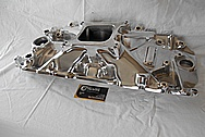 Weiand V8 Engine Aluminum Intake Manifold AFTER Chrome-Like Metal Polishing and Buffing Services - Aluminum Polishing