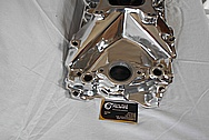 Weiand V8 Engine Aluminum Intake Manifold AFTER Chrome-Like Metal Polishing and Buffing Services - Aluminum Polishing