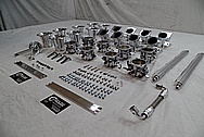 Intake Manifold with Individual Throttle Bodies and Velocity Stacks AFTER Chrome-Like Metal Polishing and Buffing Services - Aluminum Polishing
