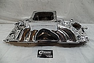 V8 Aluminum Intake Manifold AFTER Chrome-Like Metal Polishing and Buffing Services - Aluminum Polishing