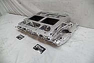 V8 Aluminum Blower Intake Manifold AFTER Chrome-Like Metal Polishing and Buffing Services - Aluminum Polishing Service