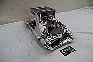 Brodix V8 Engine Aluminum Intake Manifold AFTER Chrome-Like Metal Polishing and Buffing Services - Aluminum Polishing Services
