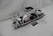 Edelbrock Aluminum Intake Manifold AFTER Chrome-Like Metal Polishing and Buffing Services - Aluminum Polishing Services