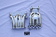 1993 RX-7 Rotary Upper and Lower Aluminum Intake Manifold AFTER Chrome-Like Metal Polishing and Buffing Services