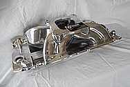Aluminum Intake Manifold AFTER Chrome-Like Metal Polishing and Buffing Services - Aluminum Polishing Services