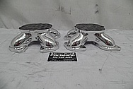 Weber Aluminum V8 Engine Spacer Adapters AFTER Chrome-Like Metal Polishing and Buffing Services / Restoration Services - Aluminum Polishing