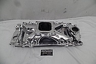 Edelbrock Victor JR Aluminum Intake Manifold AFTER Chrome-Like Metal Polishing and Buffing Services / Restoration Services - Aluminum Polishing