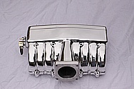Edelbrock Ford V8 Aluminum Intake Manifold AFTER Chrome-Like Metal Polishing and Buffing Services