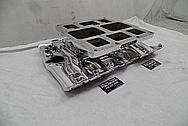 Hampton Aluminum V8 Intake Manifold AFTER Chrome-Like Metal Polishing and Buffing Services - Aluminum Polishing