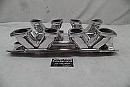 Aluminum V8 Intake Manifold AFTER Chrome-Like Metal Polishing and Buffing Services - Aluminum Polishing