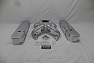 Edelbrock Victor Aluminum Intake Manifold AFTER Chrome-Like Metal Polishing and Buffing Services - Aluminum Polishing