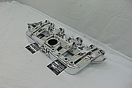 Jeep 4.0L 6 Cylinder Aluminum Intake Manifold AFTER Chrome-Like Metal Polishing and Buffing Services - Aluminum Polishing