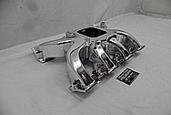 Aluminum V8 Intake Manifold AFTER Chrome-Like Metal Polishing and Buffing Services - Aluminum Polishing Services