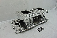 Holley Pro Dominator Aluminum V8 Intake Manifold AFTER Chrome-Like Metal Polishing and Buffing Services - Aluminum Polishing Services