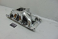 Parker 302W Aluminum V8 Intake Manifold AFTER Chrome-Like Metal Polishing and Buffing Services - Aluminum Polishing Services