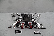 Holley Strip Dominator Aluminum V8 Intake Manifold AFTER Chrome-Like Metal Polishing and Buffing Services - Aluminum Polishing - Intake Polishing