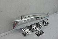 Nissan SR20DET Greddy 4 Cylinder Aluminum Intake Manifold AFTER Chrome-Like Metal Polishing and Buffing Services - Aluminum Polishing - Intake Polishing