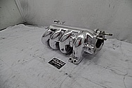 4 Cylinder Aluminum Intake Manifold AFTER Chrome-Like Metal Polishing and Buffing Services - Aluminum Polishing