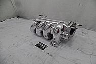 4 Cylinder Aluminum Intake Manifold AFTER Chrome-Like Metal Polishing and Buffing Services - Aluminum Polishing