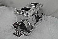 Edelbrock Tunnelram Aluminum Intake Manifold AFTER Chrome-Like Metal Polishing and Buffing Services - Aluminum Polishing