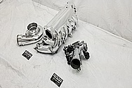 Toyota Supra 2JZ-GTE Aluminum Intake Manifold AFTER Chrome-Like Metal Polishing and Buffing Services - Aluminum Polishing
