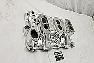 3 Deuce Tri Power Offenhauser Aluminum Intake Manifold AFTER Chrome-Like Metal Polishing and Buffing Services / Restoration Services - Aluminum Polishing