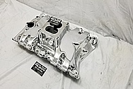 Oldsmobile 350 Offenhauser Aluminum Intake Manifold AFTER Chrome-Like Metal Polishing and Buffing Services / Restoration Services - Aluminum Polishing