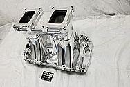 BBC Weiand 5981 Aluminum Intake Manifold AFTER Chrome-Like Metal Polishing and Buffing Services / Restoration Services - Aluminum Polishing