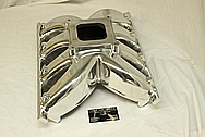 Pontiac CV-1 V8 Aluminum Intake Manifold AFTER Chrome-Like Metal Polishing and Buffing Services